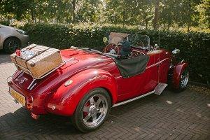 Retro car red