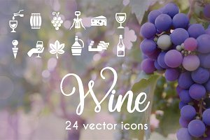 WINE - vector icons