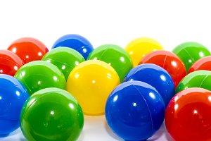 Balls in rainbow color