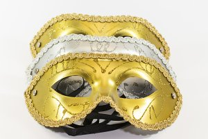 Three carnival masks.