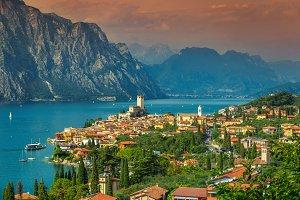 Famous Malcesine and Lake Garda