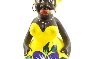 Cuban ceramic figure