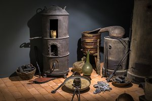 Old fashioned blacksmith workshop