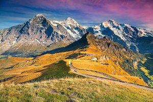 Autumn landscape in Switzerland