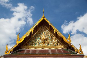 Thai temple roof.