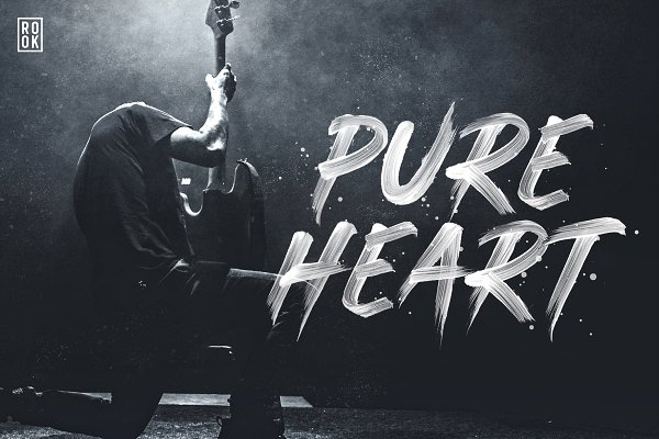 Pure Heart - OpenType SVG Brush Fon…