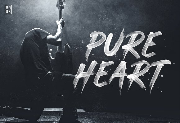pure heart opentype svg brush font display fonts creative market