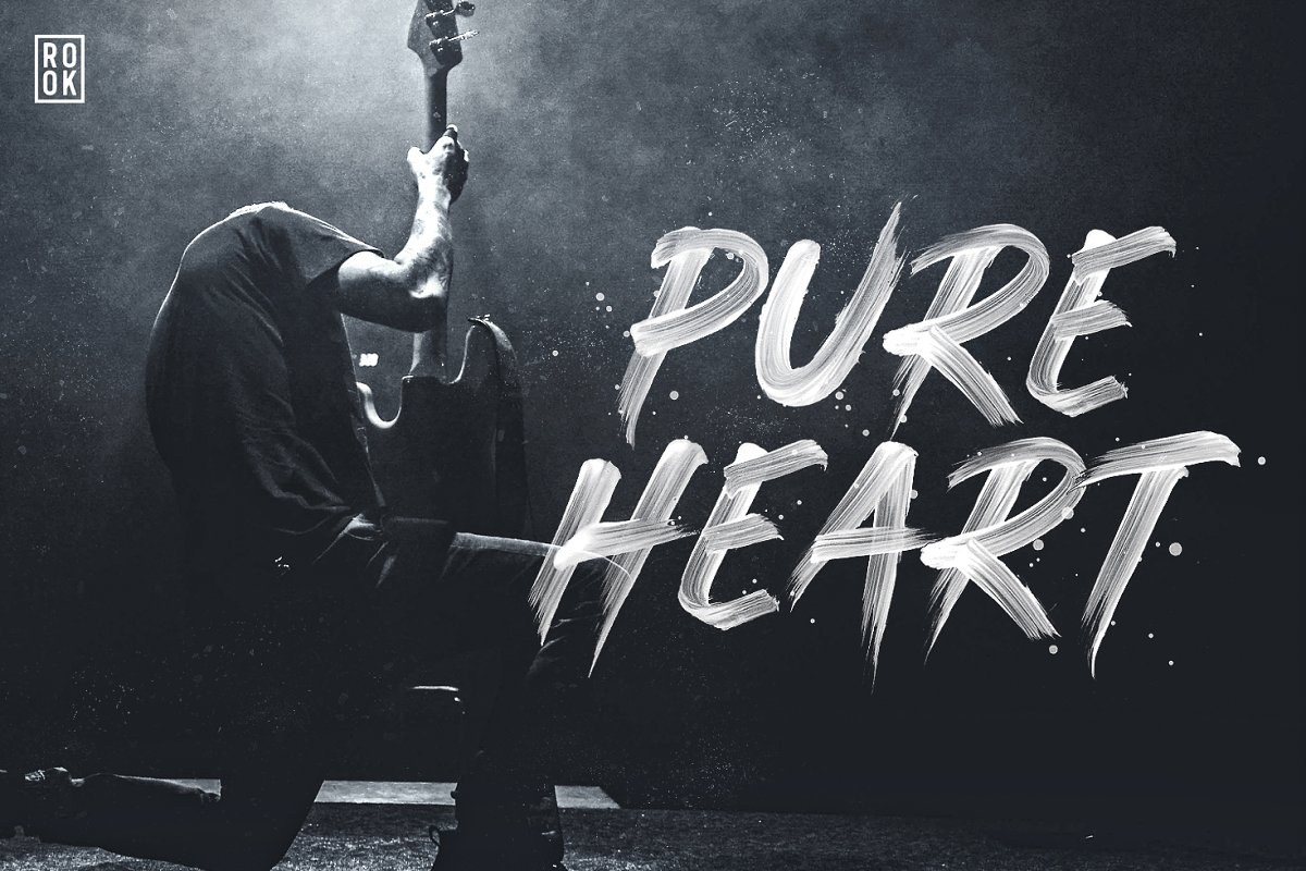 Pure Heart - OpenType SVG Brush Font ~ Display Fonts