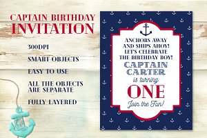 Captain Birthday Invitation