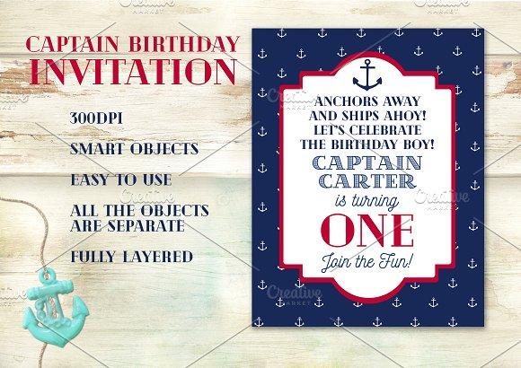 Captain Birthday Invitation