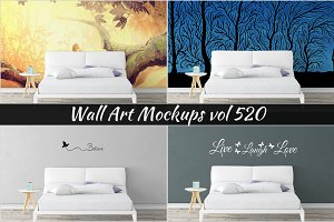Wall Mockup - Sticker Mockup Vol 520