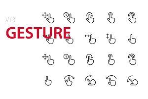 60 Gesture UI icons