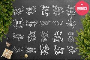 38 Christmas overlays + BONUS