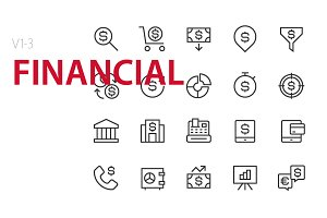 60 Financial UI icons