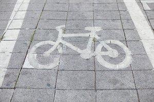 Bicycle symbol.