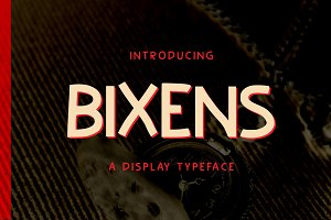 Bixens Typeface