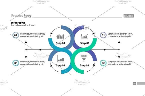 Four step process chart design