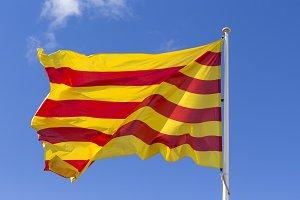 Catalan flag with mast