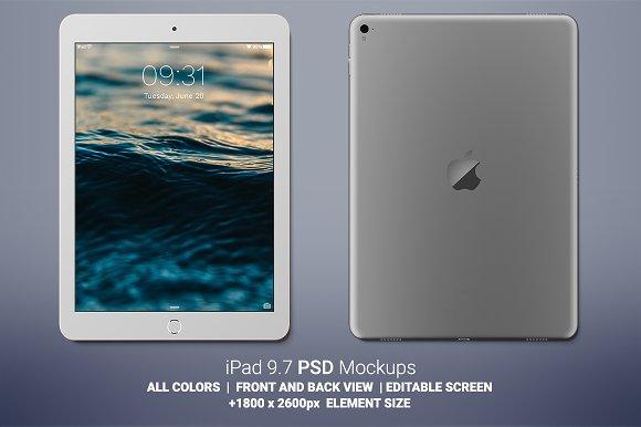 Download iPad 9.7 Mockups