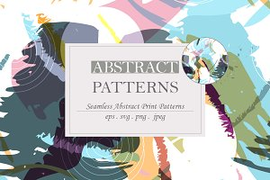 Abstract brush strokes patterns