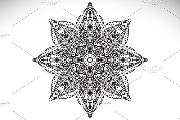 Mandala. Ornament in ethnic style - Illustrations