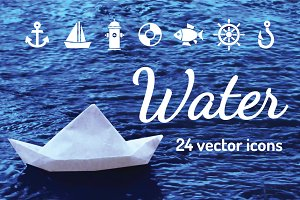 WATER - vector icons