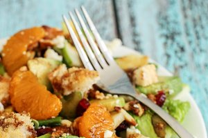 Healthy mandarin cranberry salad