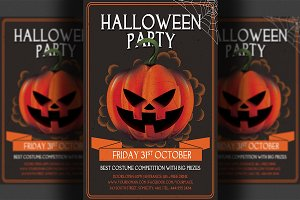 Halloween Party Psd Flyer