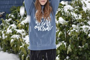 Girl In Snow Stock