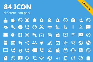 84 different icon pack