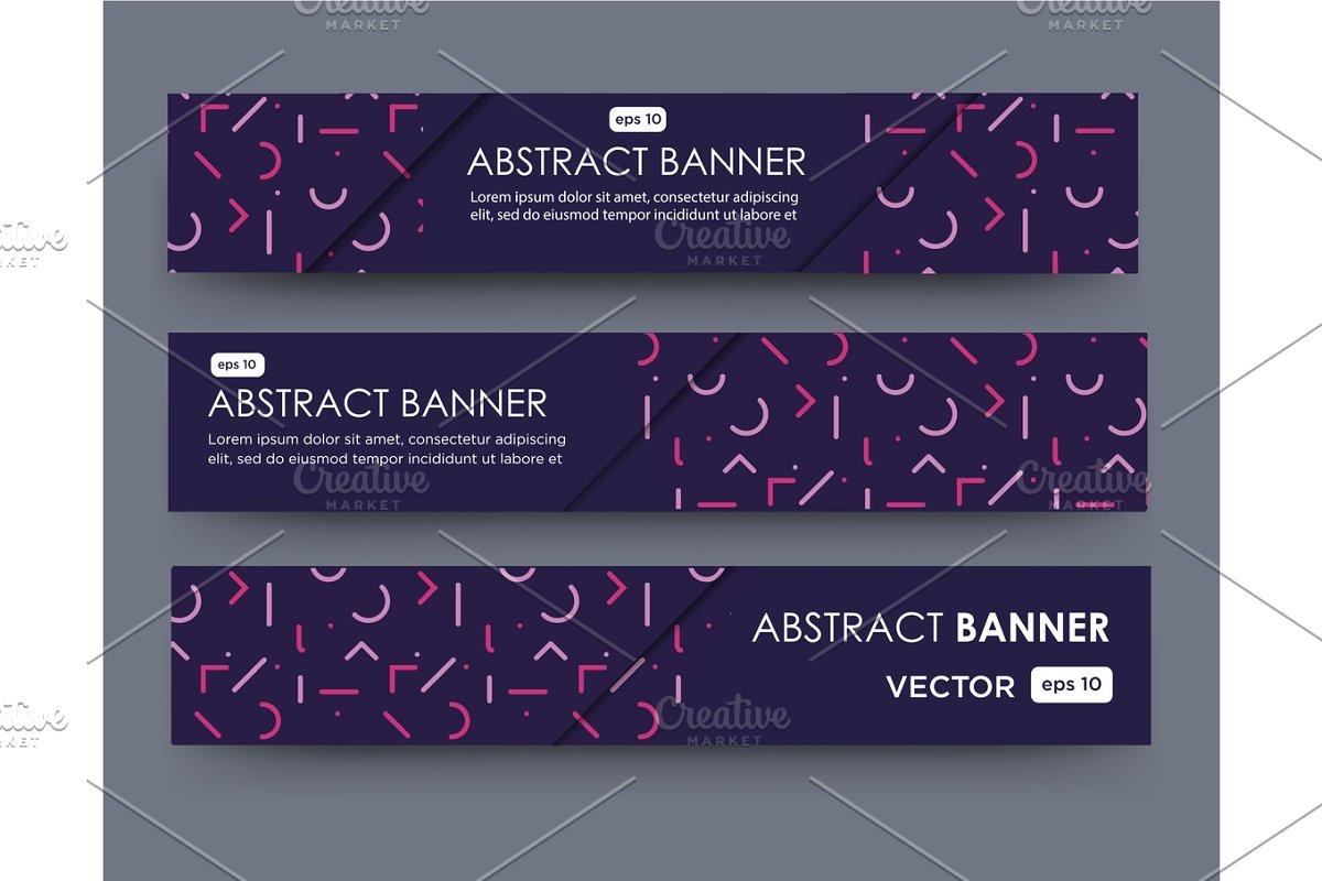 line pattern banner design