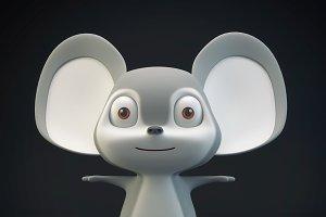Cartoon Mouse Gray