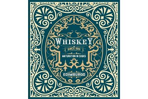 Baroque Whiskey Label
