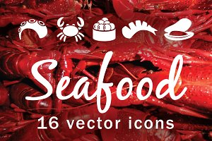 SEAFOOD - vector icons