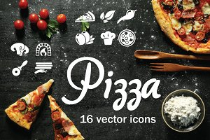 PIZZA - vector icons