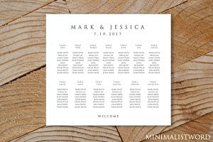 Wedding Seating Chart 13 Tables