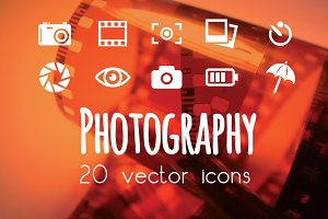 PHOTOGRAPHY - vector icons