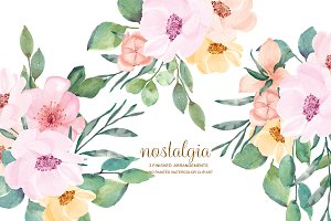 Watercolor Wild Rose Clip Art