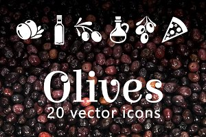 OLIVES - vector icons
