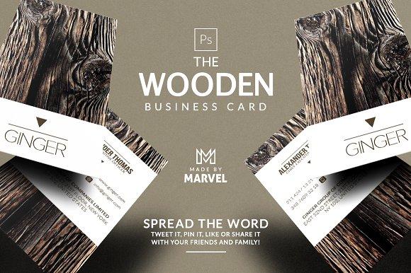wooden business card business card templates creative market