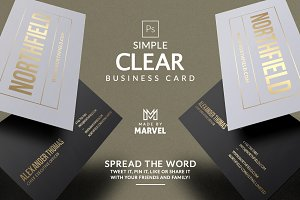 Simple Clear Business Card