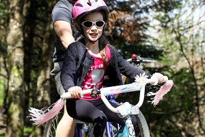 Family Bike Ride in Spring