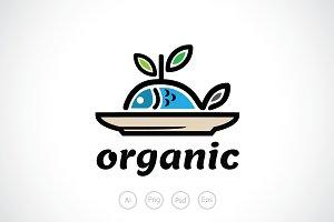 Organic Seafood Logo Template