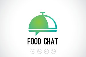 Dish Chat Logo Template