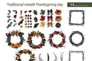 Traditional Thanksgiving wreath (54)