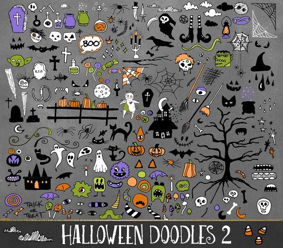 Halloween Doodles Vector Clipart