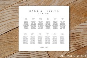 Wedding Seating Chart 12 Tables