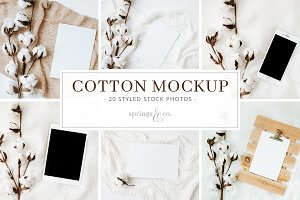 Cotton Mockup Styled Stock Photos