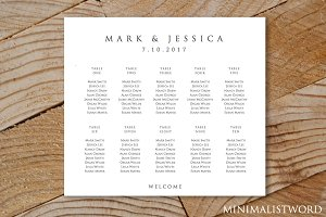 Wedding Seating Chart 10 Tables