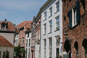 Narrow street in Deventer, Netherlands